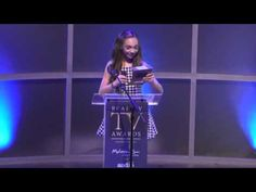 Maddie Ziegler Presenting An Award At The RTVA Awards! - YouTube
