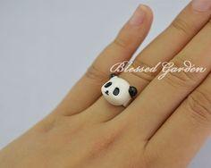 panda ring,panda, cute rings,cute panda, girlfriend gift,blessed garden