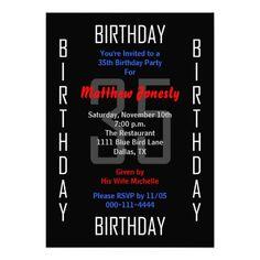 35th Birthday Party Invitation - 35