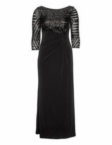 Weise  Embellished gown in Black / Light-Brown