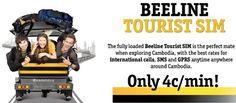 Cambodia Beeline Tourist SIM Card Only $0.04/min! To connect to 12 countries: Australia (fix), Canada, China, France (fix), Hong Kong, Japan (fix), Malaysia, Singapore, South Korea, Thailand,  USA and Vietnam. Cellular Network, South Korea, Cambodia, Hong Kong, Countries, Singapore, Connect, Vietnam, Thailand