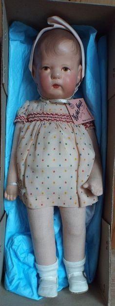 Käthe Kruse Doll X- US Zone. All Original w/ box 35cm - Jonathan Green and Company #dollshopsunited