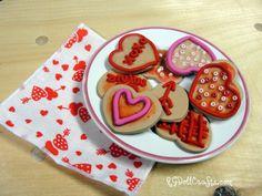 fimo heart cookies