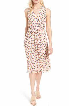 Anne Klein Print Chiffon Dress