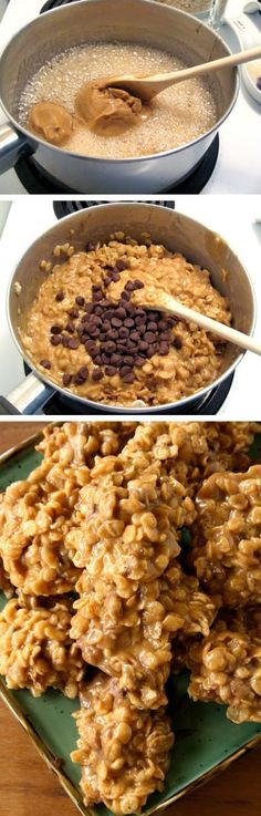 Fun And Easy Treats You Can Make With Cereal Stove Top Peanut Butter Cereal Cookies 19 Perfect Summer Desserts That Will Make YouDroolStove Top Peanut Butter Cereal Cook. Cereal Cookies, Cookies Et Biscuits, Cereal Treats, Cereal Bars, Kashi Cereal, Trix Cereal, Chip Cookies, Baby Cereal, Baking Cookies
