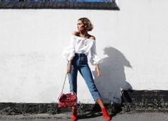 #OOTD: How to Wear Red Boots According to Fashion Girls