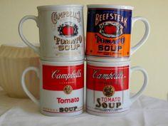 Cambell Soup Mugs Mug Set Vintage Kitchen by TheGemandTheJar, $18.00