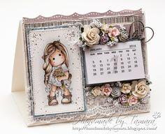 Handmade by Tamara: Summer Wedding Tilda calendar Diy Calender, Hobbies And Crafts, Diy And Crafts, Diy Magnets, Magnolia Stamps, Cricut Cards, Calendar Design, Marker Art, Pop Up Cards