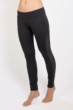 ad94852645 Romance Lace-Up Mesh Yoga Legging (Black)