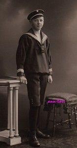 Cabinet card of German boy in sailor suit