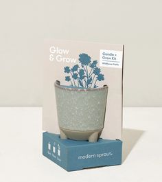 Glow and Grow - Wildflower Fields – Modern Sprout Gerbera Daisy Seeds, Seed Starter Kit, Grow Kit, Food Packaging Design, Ceramic Planters, Grow Lights, Recycled Glass, Soy Candles, Wild Flowers