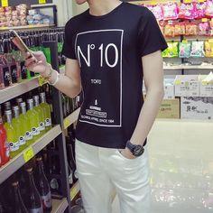เสื้อยืด เสื้อยืดแฟชั่น เสื้อยืดผู้ชาย เสื้อยืดผู้ชายแฟชั่นเกาหลี สินค้าพรีออเดอร์ ไม่มีปิดรอบ รอเพียง 15-20 วัน