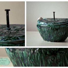 Azucarera!!! Con cucharita en ceramica! ☕️ Ideal para hacer un regalito!!! #alfareria #ceramica #pottery #azucarera…