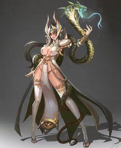 ArtStation - Snake Lady, Dead Man
