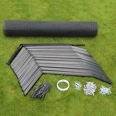 """This is a ProtectaKit™ to cat proof a the perimeter of a garden fence or wall which is 1.8m (6ft) high or taller. Each ProtectaKit™includes: high tensile cat mesh (in the length of the kit plus 5 metres surplus), cable ties (100 in 10-50m ProtectaKits™, 200 in 60-100m ProtectaKits™), 25 metres of galvanised wire, 10 heavy-duty eye hooks and 2 rawl plugs and 2"""" screws per bracket. All ProtectaKits™ include 1 Left and 1 Right Corner ProtectaPuss® Bracket."""