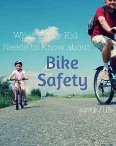 What Every kids Needs to Know About Bicycle Safety Smart Kids 101 Bicycle Party, Kids Bicycle, Bike, Classroom Crafts, Health And Safety, Teaching Kids, Kids Playing, Need To Know, Activities For Kids
