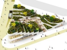 NL Architects Dream Up a Super Market Topped With a Lush Park for China | Inhabitat - Sustainable Design Innovation, Eco Architecture, Green...