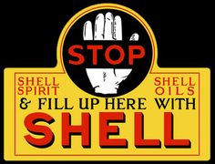 Shell - Vintage Gas - Oil Signs Signs For Sale From Garage Art LLC