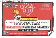 Amici Cucciolotti 2017: Retro Figurina n. 318 Paguro