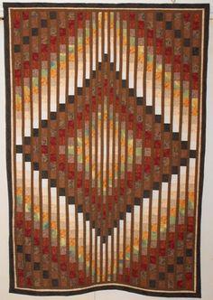 Bargello quilt by Charlotte Hulland  Orillia, Ontario,  Canada  Etsy shop  : TarynsNana