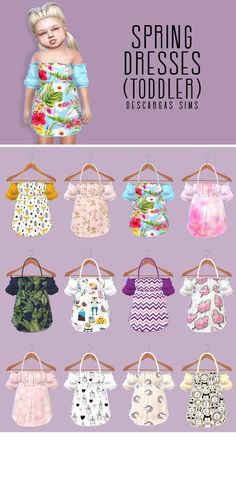 – Página web de descargass… - All For Hairstyles Sims 4 Toddler Clothes, Sims 4 Mods Clothes, Sims 4 Cc Kids Clothing, Toddler Cc Sims 4, Toddler Outfits, Toddler Girls, Girl Outfits, The Sims 4 Pc, Sims Four