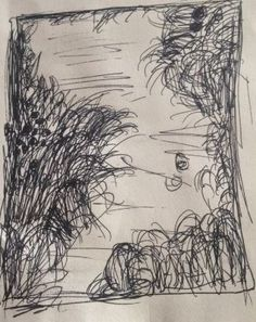 A quick sketch of Monet water lilies and setting sun, whilst at the national gallery