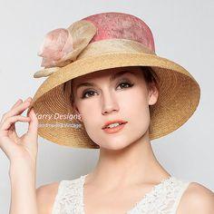 Ropa de elegante flor dama moda lujo estado cap por KarryDesigns