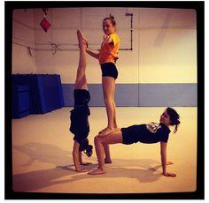3 person acro stunts  diy  pinterest  stunts