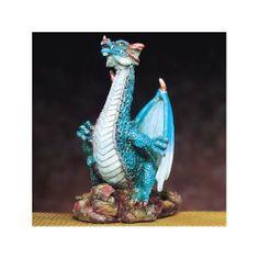 Small Dragon (Blue)   Collectible Statue Figurine Figure