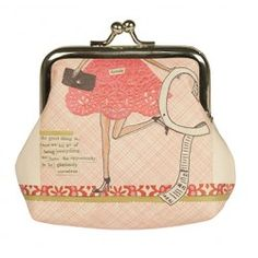Curly Girl Coin Purse.  Layered collages of colourful retro prints and textured papers are perfectly coupled with both hand printed and carefully cut text creating a contemporary range with nostalgic feel. The real secret to the fabulous life is to live imperfectly with great delight.  Great Stocking Filler