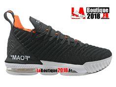 Nike Lebron 16 EP LBJ Noir/Blanc/Orange Chaussures Officiel Nike Basket Prix Pour Homme