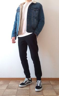 Summer Outfits Men, Outfits Casual, Mode Outfits, Stylish Mens Outfits, Summer Men, Trendy Outfits For Guys, Simple Outfits, Vans Outfit Men, Outfit Jeans