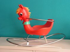 RESERVED for WANDERINGFAWN Vintage Pony Rocking Horse