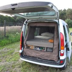 The MicroCamper a.k.a Fat Berta- give instructions on how he built the frames inside this mini van