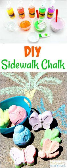 How to Make DIY Sidewalk Chalk Kids Will Love, Homemade Sidewalk Chalk Paint, Perfect Summer Activities for Kids, Makes a great Gift Idea, Pre-teen Craft