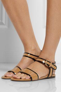 Marni|Patent-leather sandals|NET-A-PORTER.COM
