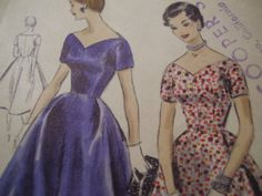 Vintage 1950's Vogue 8379 Dress Sewing Pattern by TheLastPixie, $22.50
