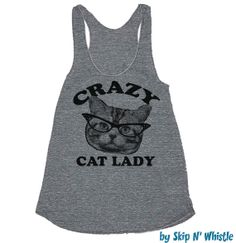 Womens CRAZY CAT LADY Tank Top  american apparel by skipnwhistle, $24.00
