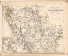 Vereinigte Staaten von Nord-America: Californien, Texas und die Territorien New Mexico u. Utah - Joseph Meyer - 1852