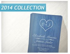 Blue Country Wedding Invitations