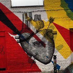 Graffiti in Shoreditch, London.