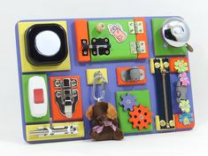 Wooden Electric Busy Board 60th Birthday Gift Waldorf Toys