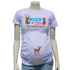 Buck or Doe!  Use whichever onesie fits the gender you need.  Perfect for the gender reveal photo shoot or party!