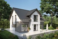 Prefabricated house architect house Fortuna, family friendly family house with . - home - New Farm, Prefabricated Houses, Architect House, White Houses, House Front, My Dream Home, Exterior Design, Future House, Architecture Design