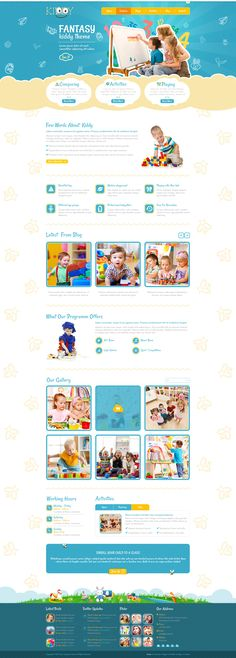 Kiddy is the premium PSD template for a wide variety of children-oriented websites. Website Design Layout, Web Design Tips, Web Layout, Page Design, Kids Sites, Beautiful Website Design, Newsletter Layout, Kids Logo, Website Themes