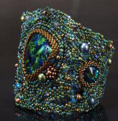 Atlantis Cuff Tutorial Combining Freeform Beadwork by NEDbeads