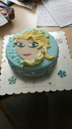 Elsa cake Elsa Cakes, Birthday Cake, Sweet, Kitchen, Desserts, Food, Cooking, Birthday Cakes, Meal