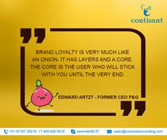 Brand Loyalty is very much like an onion. It has layers and a core. The core is the user who will stick with you until the very end. Wednesday Motivation, Loyalty, Online Business, Onion, Digital Marketing, Core, Layers, Branding, Quotes