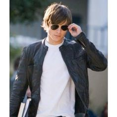 Zack Efron has worn this attractive Leather Jacket in his film 17 Again. No doubt this is real stylish leather Jacket. Available here in much discounted price.