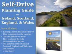 Here's a great way to start the process of planning your self-drive trip to Ireland, Scotland, England or Wales. From car rental information to what the weather is like, this guide is super helpful!